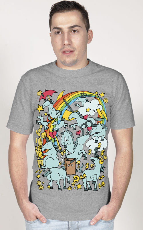 Arteestic - Unicorn Rainbow Party T-Shirt