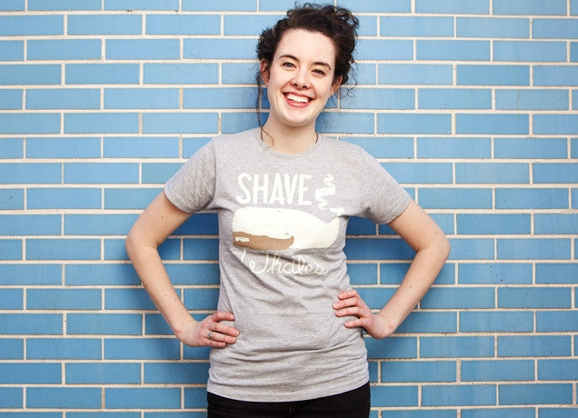 Threadless - SHAVE THE WHALES Grey T-Shirt by Luis Diaz