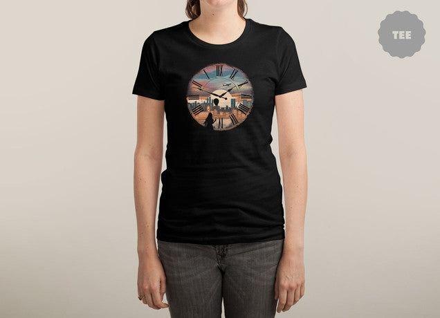 Threadless - RIGHT HERE WAITING Black T-Shirt by Dandingeroz