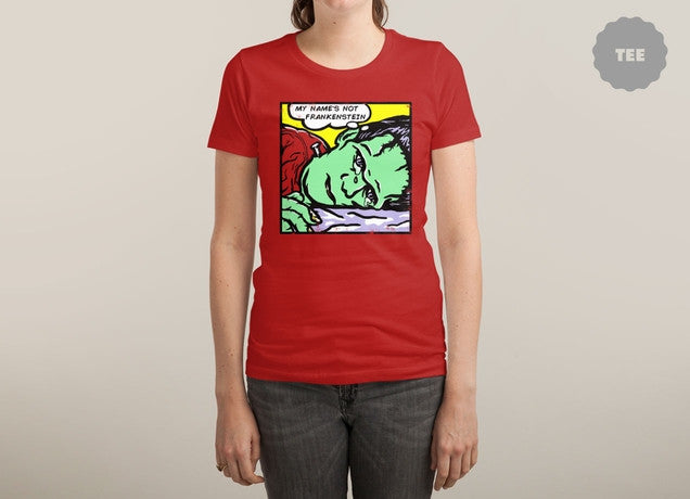 Threadless - FRANKTENSTEIN Red T-Shirt by Katie Campbell