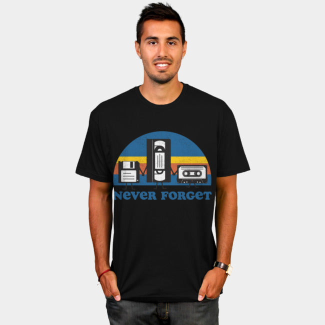 Design By Humans - Never Forget Black T-Shirt by Tingsy