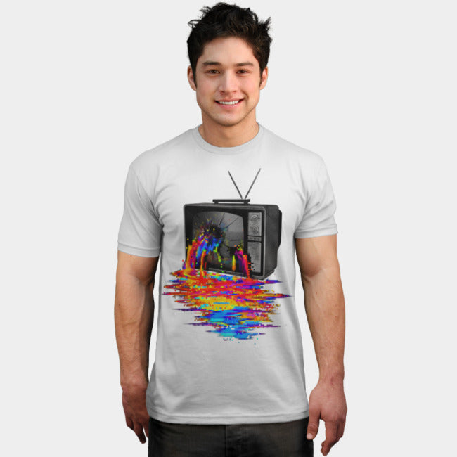 Design By Humans - Pixel Overload White T-Shirt by Nicebleed