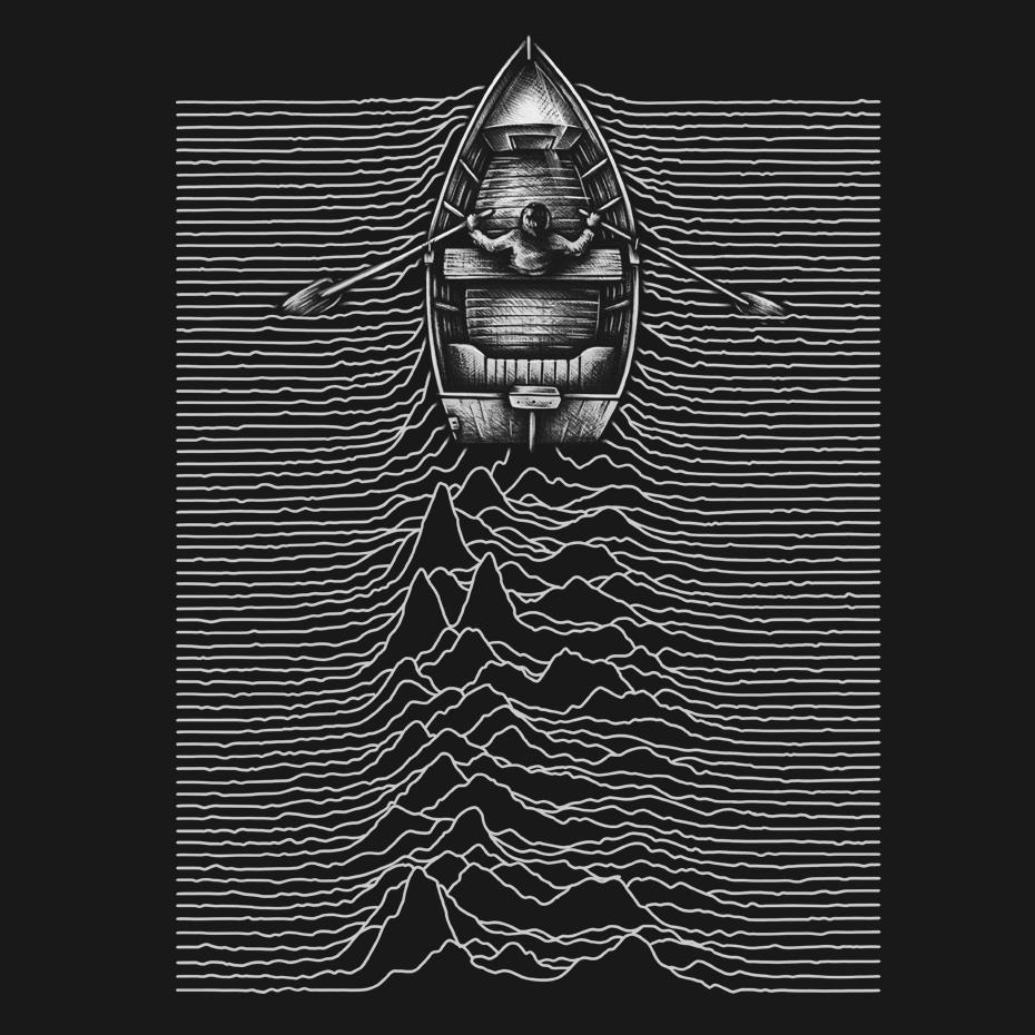 Artokingo - Unknown Waters Black T-Shirt by Enkel Dika