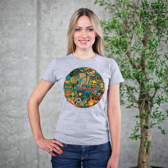 Artokingo - Your Mind's Eye Grey T-Shirt by Steven Rhodes