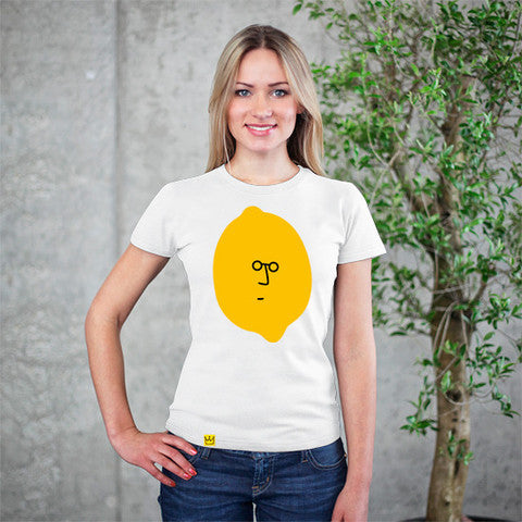 Artokingo - John Lemon White T-Shirt by Jaco