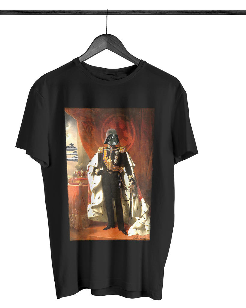 Artokingo - King Vader Black T-Shirt by Bakus
