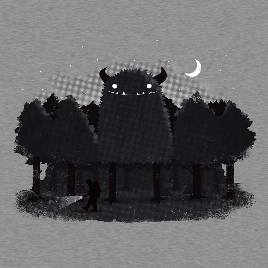 Artokingo - Monster Hunting Grey T-Shirt by Michael Buxton