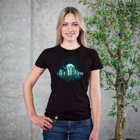 Artokingo - Music City Black T-Shirt by Dandingeroz