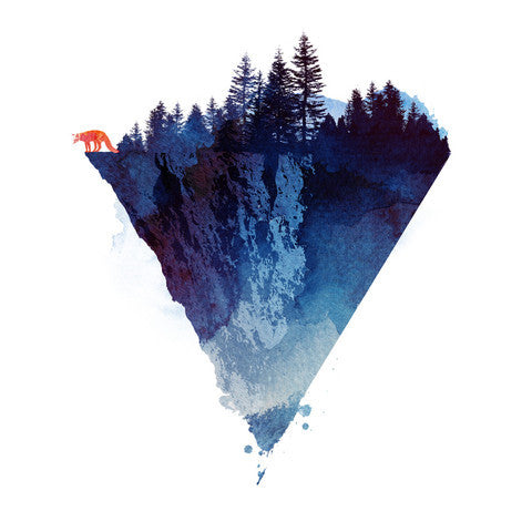 Artokingo - Near To The Edge White T-Shirt by Robert Farkas
