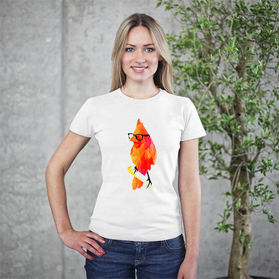 Artokingo - Punk Birdy White T-Shirt by Robert Farkas
