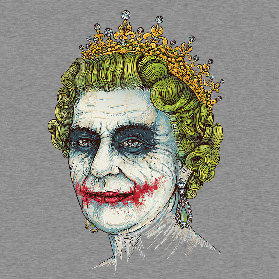 Artokingo - God Save the Villain Grey T-Shirt by Enkel Dika