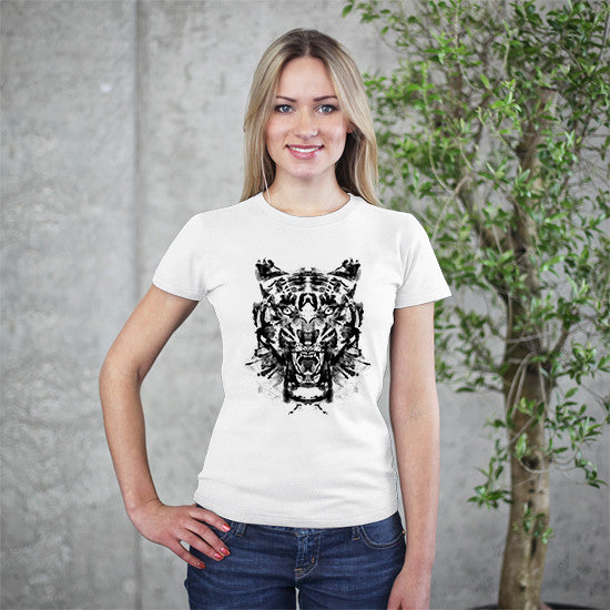 Artokingo - Roarschach White T-Shirt by Kooky Love