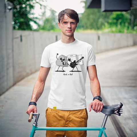 Artokingo - Rock'n'Roll White T-Shirt by Bohsky