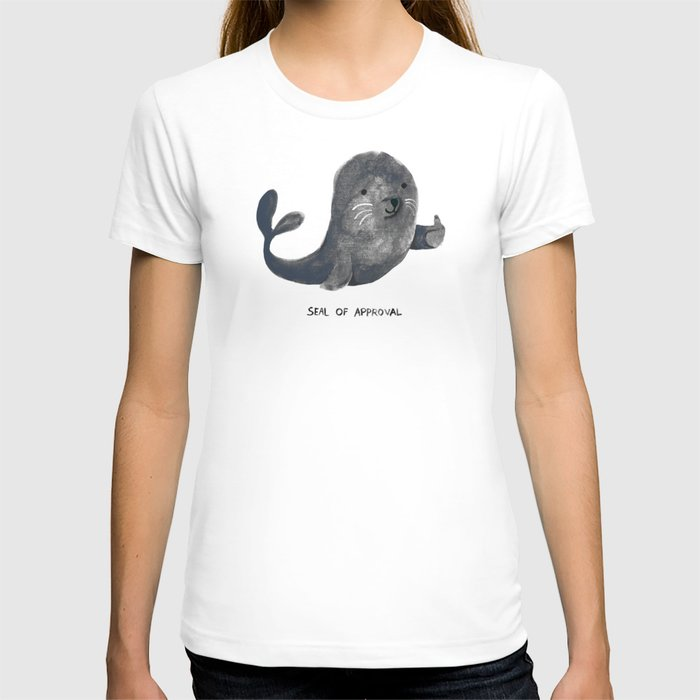 Society6 - Seal Of Approval White T-Shirt by Picomodi
