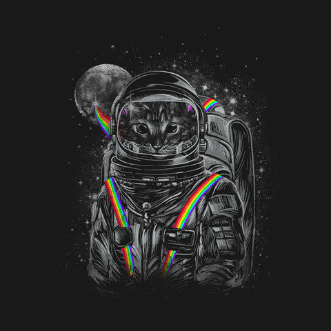 Artokingo - Space Mission Black T-Shirt by Dandingeroz