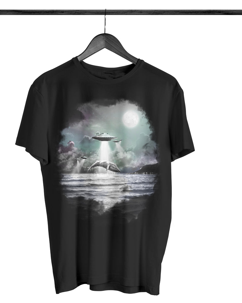 Artokingo - Whaling Black T-Shirt by Bakus