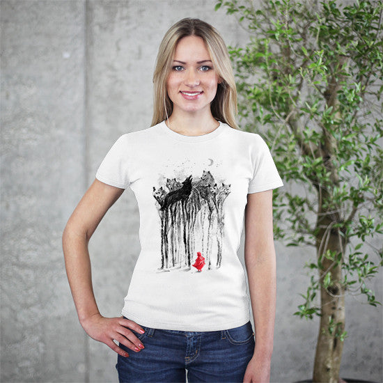 Artokingo - Woods Print White T-Shirt by 38 Sunsets