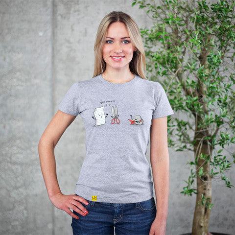 Artokingo - You Rock Grey T-Shirt by Triagus