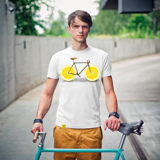 Artokingo - Zest White T-Shirt by Florent Bodart
