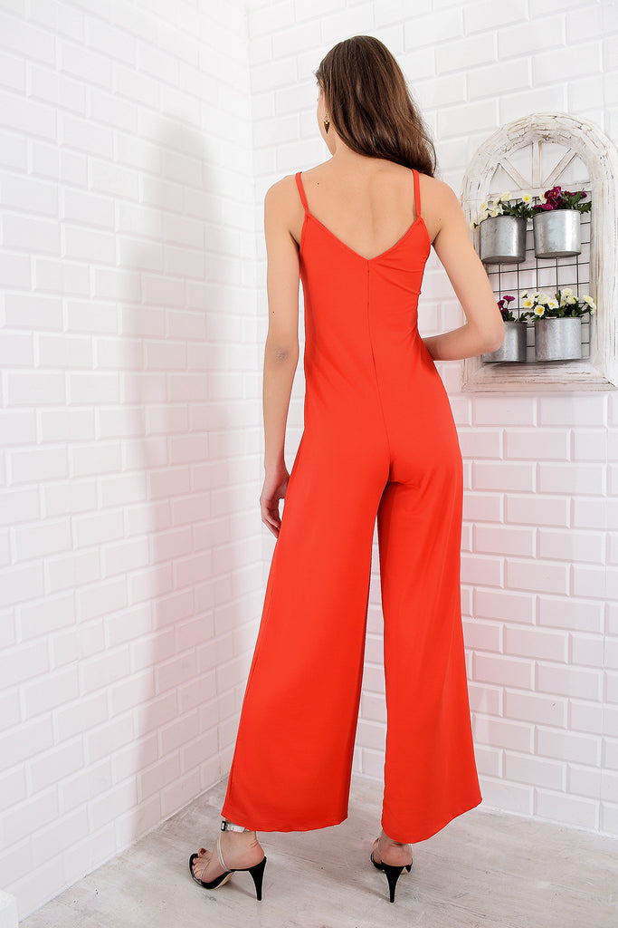Rope Strappy Crep Knitting Jumpsuit