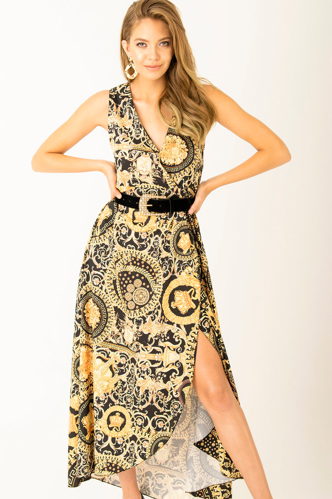 Cache Coeur Patterned Long Dress Patterned