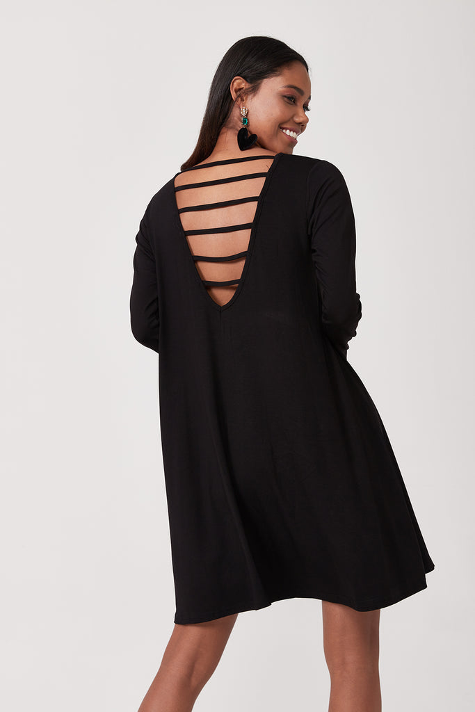 Back Detail Mini Dress