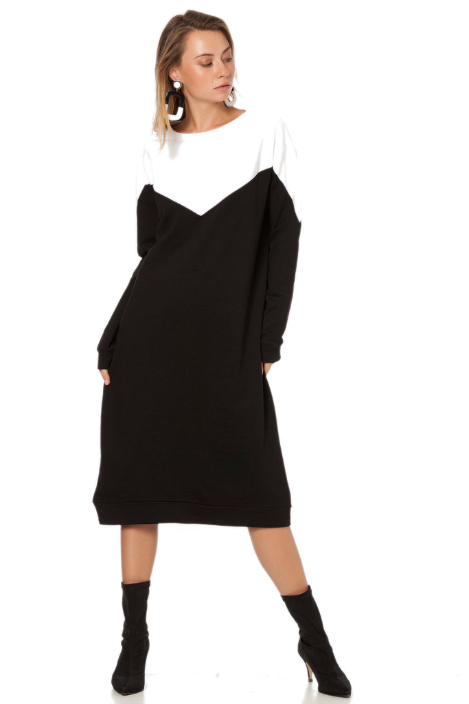 Crew Neck 2 Color Dress