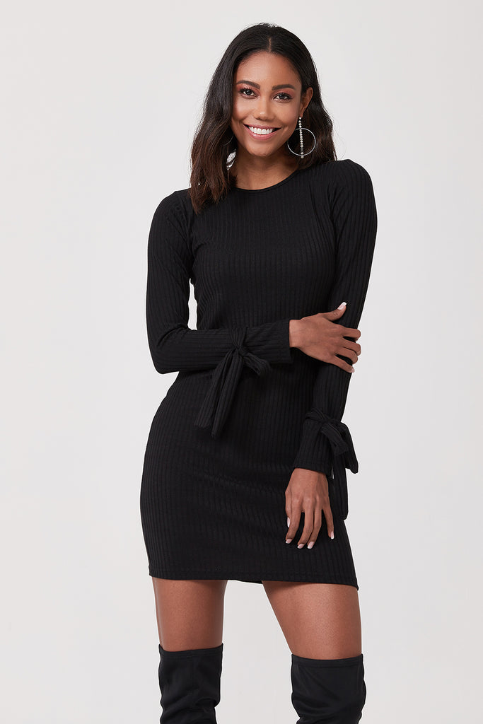 Half Turtleneck Mini Dress