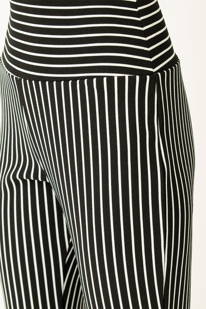 Striped Pants Black