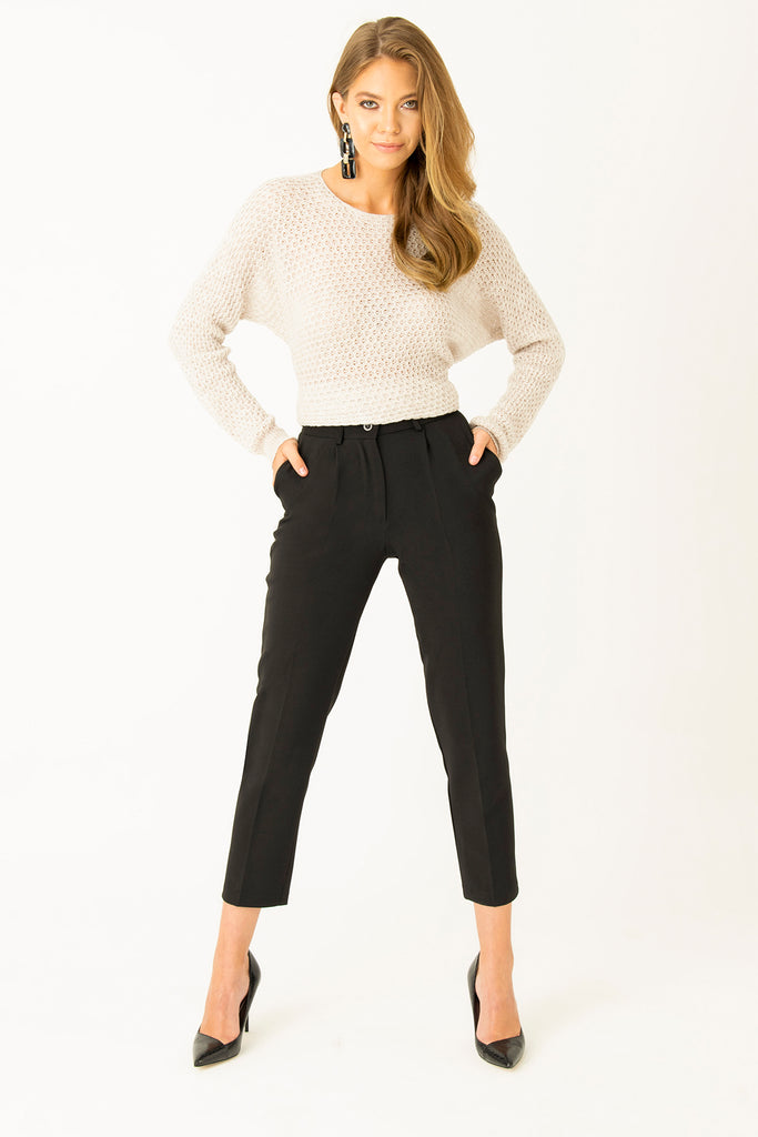 Pleated Pants Black