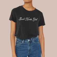 Load image into Gallery viewer, Book Kinda Girl Black T-Shirt