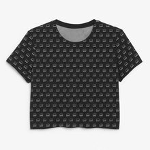 Load image into Gallery viewer, Book Print Black Crop Tee