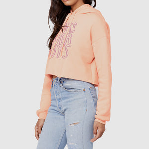 Books Over Boys Peach Crop Hoodie