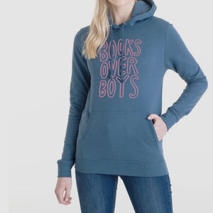 Books Over Boys Blue Hoodie