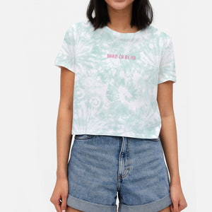 Born to Read Tie Dye Crop tee