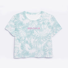 Load image into Gallery viewer, Born to Read Tie Dye Crop tee