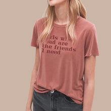 Load image into Gallery viewer, Girls Who Read Mauve T-Shirt