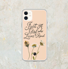 Load image into Gallery viewer, Just A Girl iPhone Case