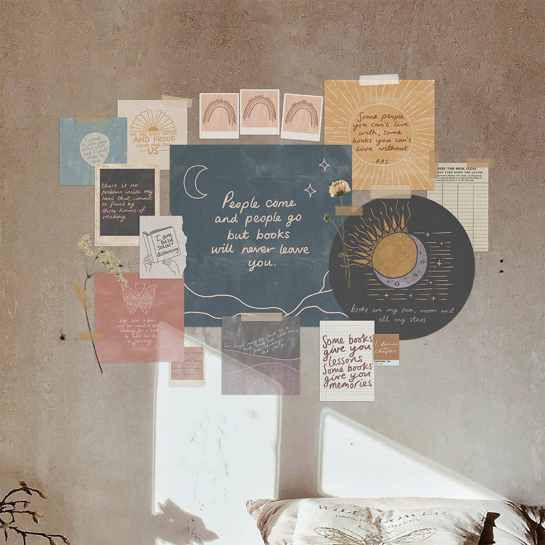 The Night Readers DIY Collage Wall Kit