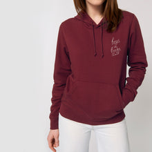 Load image into Gallery viewer, Boys In Books Are My Weakness Embroidered Burgundy Hoodie