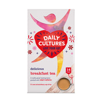 Daily Cultures Probiotic Breakfast Tea. 14 sachets
