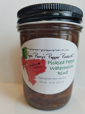 Pickled Pepper Watermelon Rind