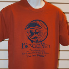 Bicycleman T-Shirt Dark Orange