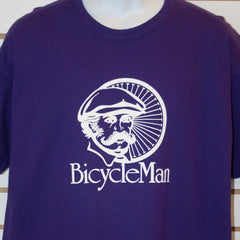 Bicycleman Purple T-Shirt