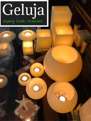 Unique Everlasting Wax Lanterns, scented, unscented, different shapes, huge range of colours, Artistic designs