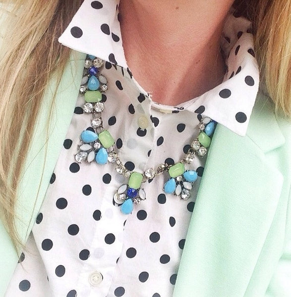 Trendy Blue Necklace