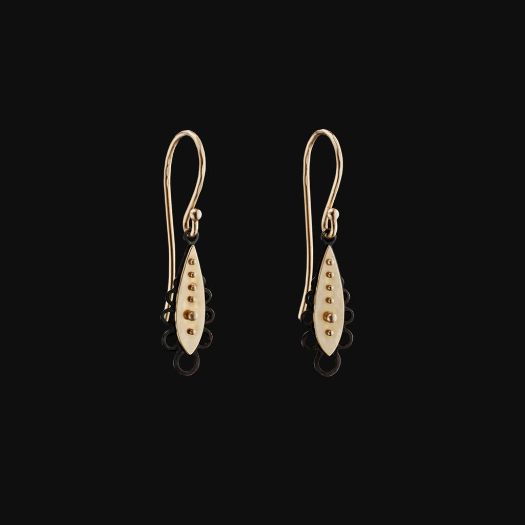 Lacey Tiny Tear Drop Earrings