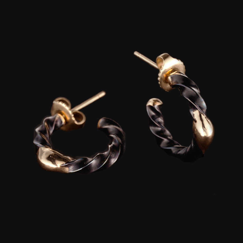 Thin Steel Twist Hoops