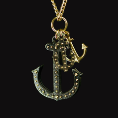 Triple Anchor Necklace