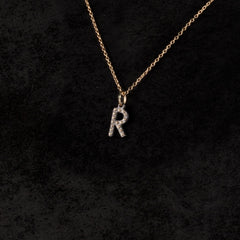 Single Letter Charm Necklace — R